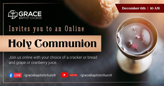 Holy Communion Invitation Facebook Image delt Facebook-billede template