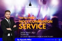 Holy Communion Service 海报 template