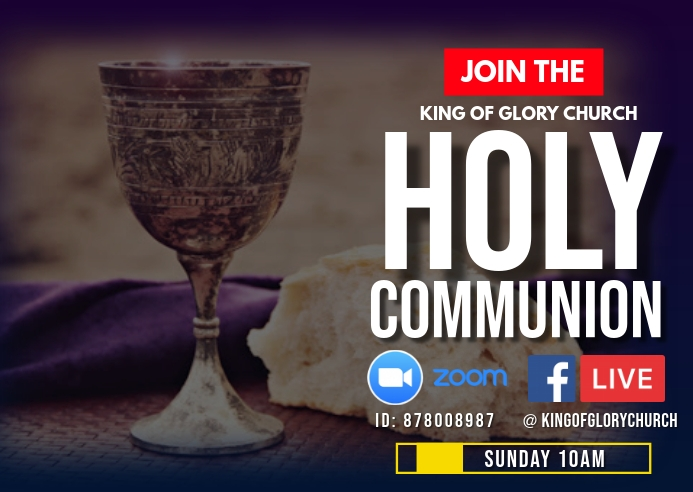 Holy Communion Service flyer Briefkaart template