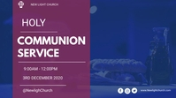 Holy communion service flyer Digital Display (16:9) template