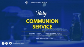 Holy communion service flyer Digitalanzeige (16:9) template