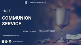 Holy communion service flyer Ecrã digital (16:9) template