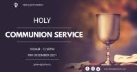 Holy communion service flyer Imagen Compartida en Facebook template