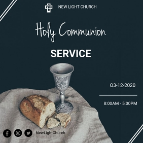 Holy communion service flyer Instagram na Post template
