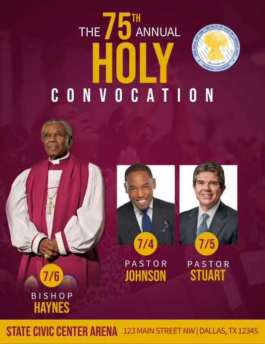Holy Convocation Flyer