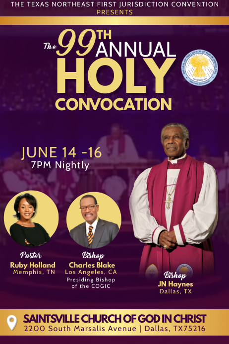 Holy Convocation Template Postermywall