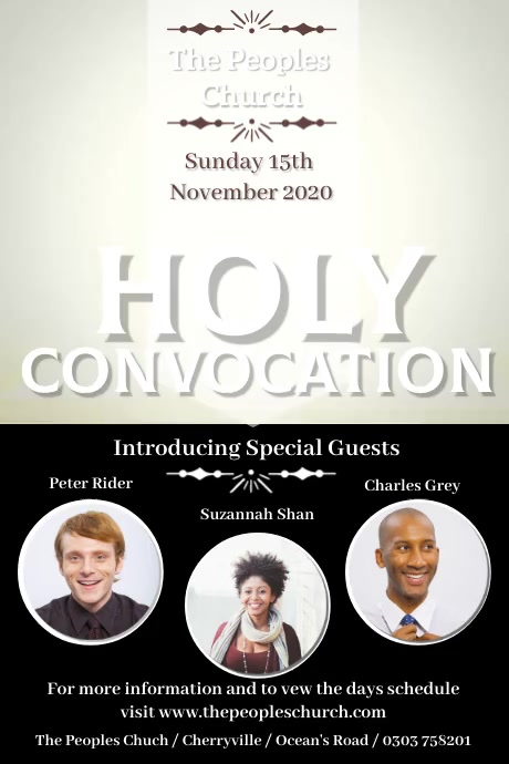 Holy Convocation Poster Template 海报