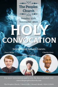 Holy Convocation Poster Template