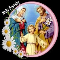 Holy family Joseph Mary Jesus design Instagram 帖子 template