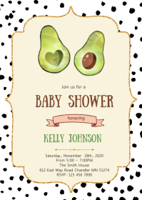 Holy Guacamole avocado invitation