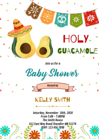 Holy guacamole shower boy theme