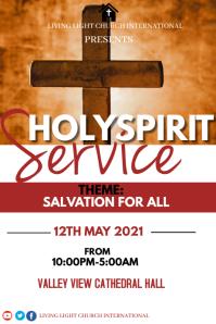 Holy Spirit Service Póster template