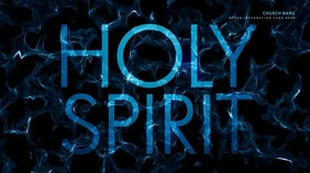 HOLY SPIRIT zoom meeting background Presentasi (16:9) template