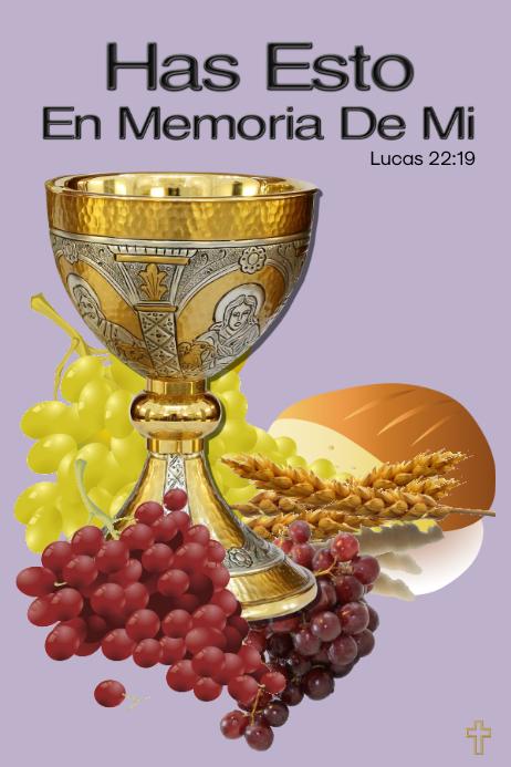 Holy Supper/Holy Communion/Santa Cena/Pascua Plakat template