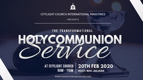 holycommunion church flyer Digitalanzeige (16:9) template
