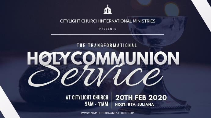 holycommunion church flyer Digital na Display (16:9) template