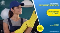 Home & Office Cleaning Services Video Ad Digitalt display (16:9) template