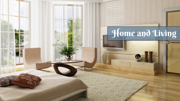 Home and Living Digital na Display (16:9) template