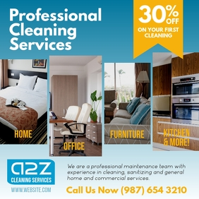 Home and Office Cleaning Services Square Ad