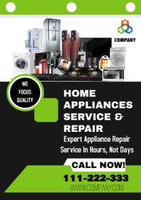 HOME APPLIANCE SERVICES A4 template