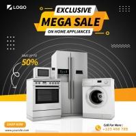Home Appliances Cuadrado (1:1) template