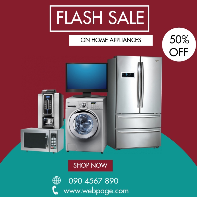 Copy Of Home Appliances Flash Sale Flyer Postermywall
