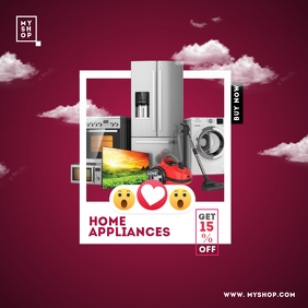 Home Appliances Sale Advert Instagram Post template