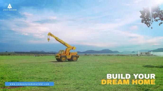 Home Builders Video Ad Digital na Display (16:9) template