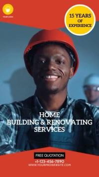 Home Building & Renovating Instagram Video Ad Digital Display (9:16) template