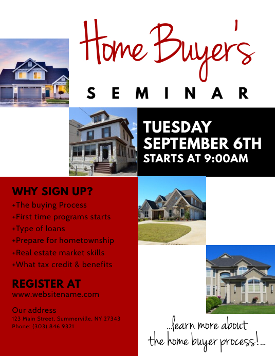 Home BuyerS Seminar Flyer Template  Postermywall