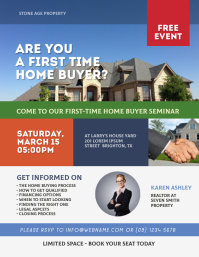 Home Buyer Seminar Flyer Volante (Carta US) template