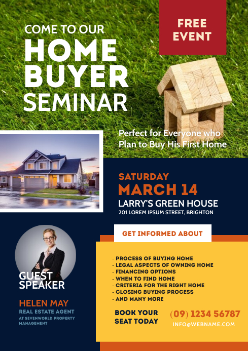 Home Buyer Seminar Flyer A4 template