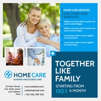 home care advertisement instagram post template