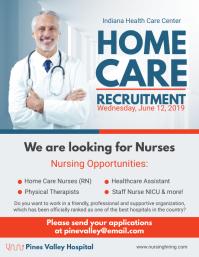Home Care Hiring Run Flyer Design