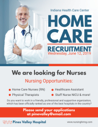 Home Care Hiring Run Flyer Design