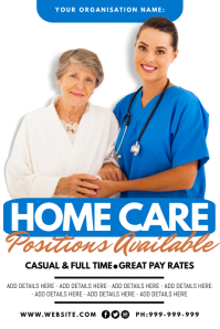 Home Care Positions Available Poster