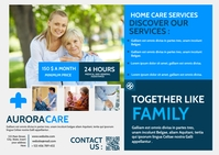 home care services advertisement Pocztówka template