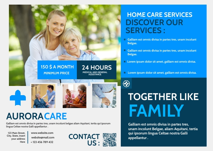 home care services advertisement Poskaart template