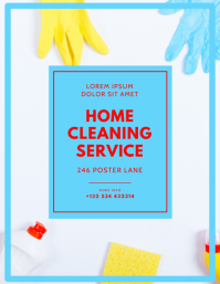 Home Cleaning Service Flyer Design Template