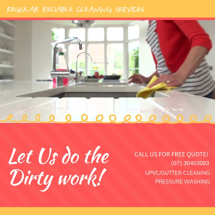 Home Cleaning Service Social Media Ad Square (1:1) template