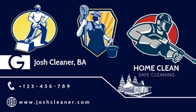 Home Cleaning Services Template Visitenkarte