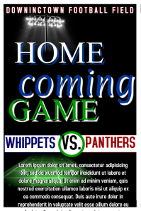 Home coming football game Poster template