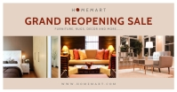 Home Decor Grand Reopening Facebook Post