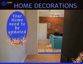 home decoration flyer,small business flyer