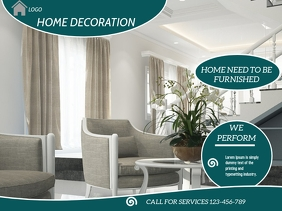 home decoration flyer,small business flyer Presentation template