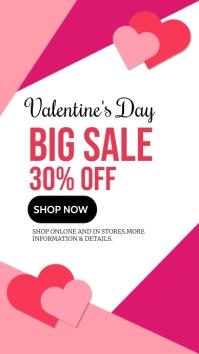 valentine's, event, romantic,winter Instagram Story template