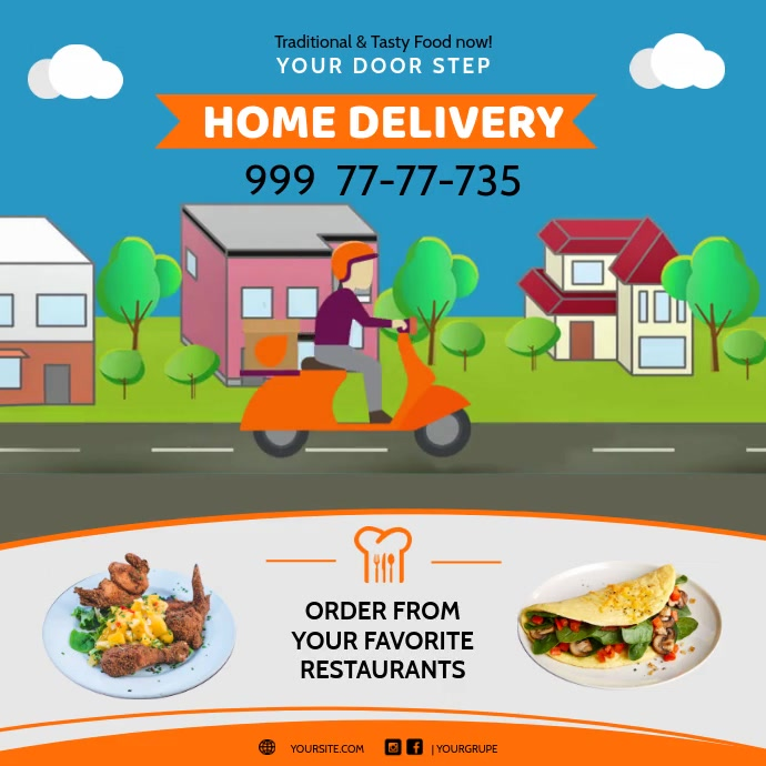 Home Delivery Curbside Delivery Instagram Ad Template ...