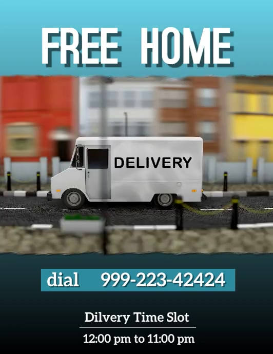 Home Delivery Flyer template