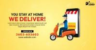 Home Delivery Service Ad Imagem partilhada do Facebook template