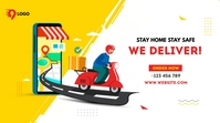 Home delivery service Message Twitter template